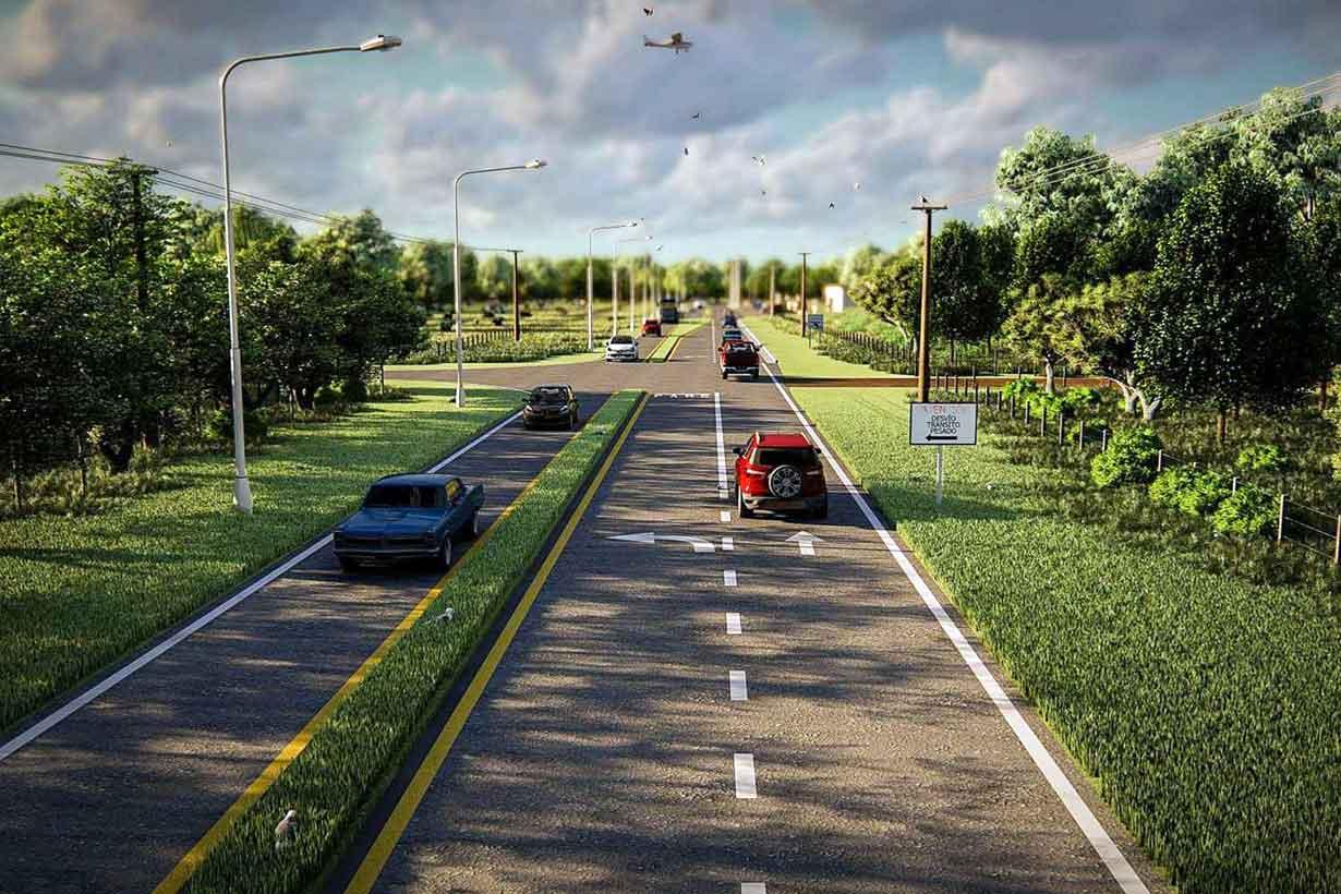 El proyecto de un tramo de Ruta 23