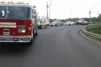 Un joven motociclista concordiense fue hospitalizado luego de caer de un puente
