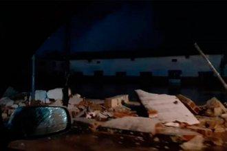 Granizo, fuertes vientos y lluvias intensas provocaron destrozos en el sur de la provincia