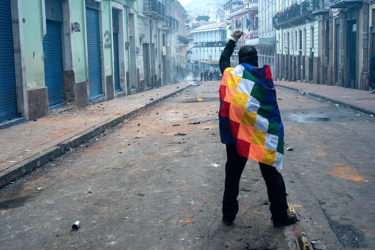 La protesta en Quito Crédito: Luis Herrera