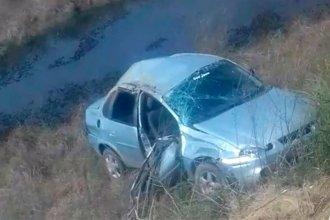 Falleció tras despistar y volcar con su auto en ruta del sur entrerriano