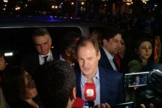 """""""Confiamos en la propuesta y estamos muy bien"""", dijo Bordet antes de ingresar al debate de candidatos"""