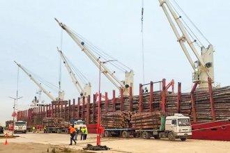 Otro buque con madera de pino partió con destino a China