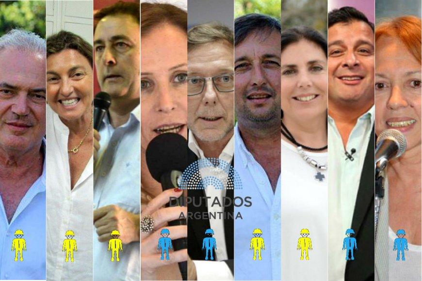 Ellos serán los 9 diputados, desde diciembre.