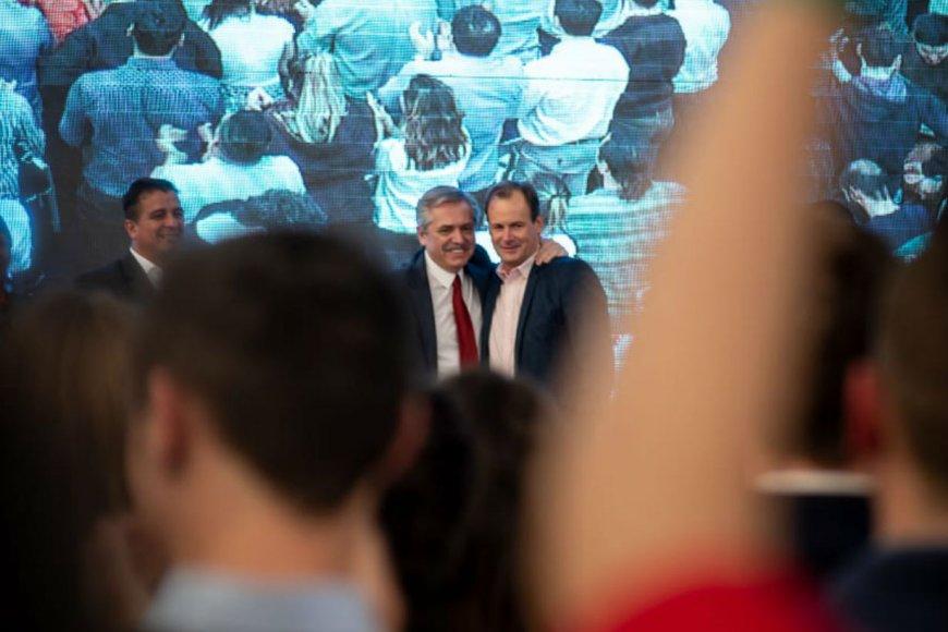 Presidente electo y gobernador, juntos.