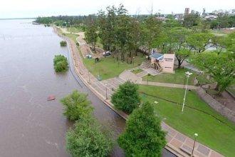 El río Uruguay creció frente al puerto de Concordia e informaron a qué altura podría llegar