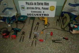 Recuperaron las herramientas robadas a una escuela técnica