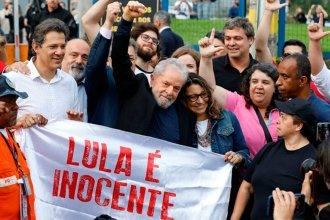 Tras un año y 7 meses de prisión, Lula da Silva salió en libertad