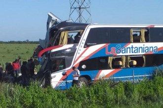 Identificaron a los fallecidos por el choque del colectivo en la Autovía