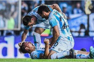 Racing consiguió la victoria con gol de un entrerriano, en un tenso encuentro ante Huracán