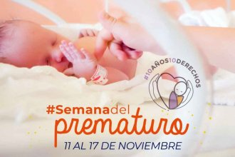 """Semana del Prematuro: décima campaña orientada a los niños que nacen """"antes de tiempo"""""""