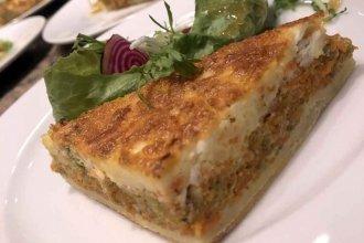 Tarta de zanahoria, zuchini y queso de cabra
