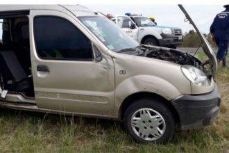 Un niño terminó en el hospital tras el vuelco del vehículo en el que viajaba