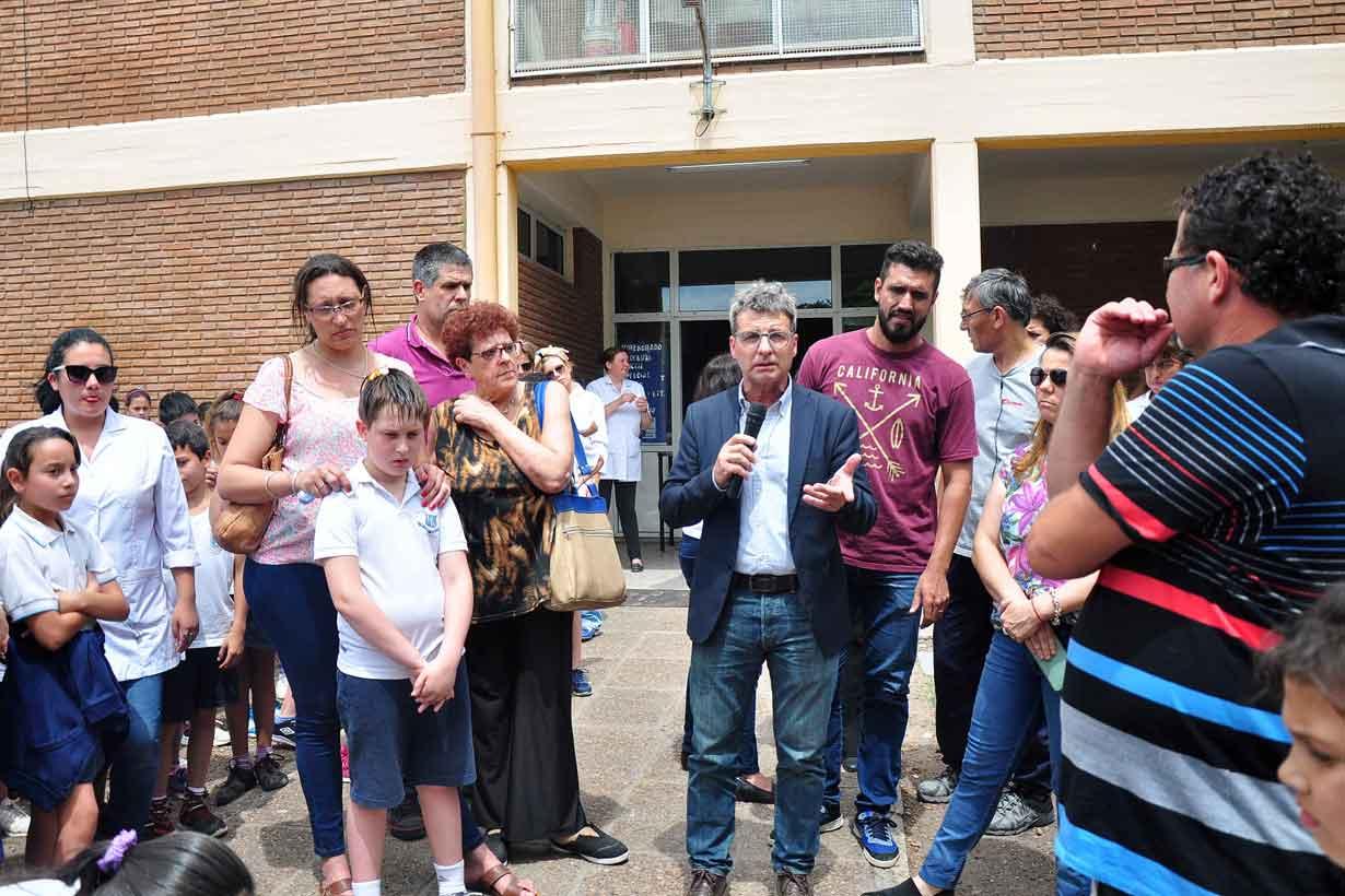 El acto en la Escuela Normal de Colón