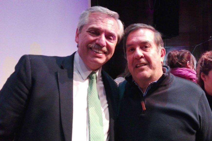 Chagas junto al presidente electo.