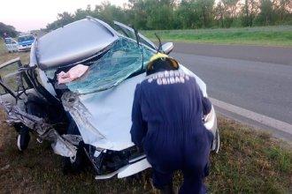 Tras impactante accidente sobre ruta entrerriana, tres personas fueron hospitalizadas