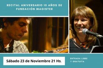 Por los 10 años de Fundación Magister, habrá un recital de tango, jazz y poesía