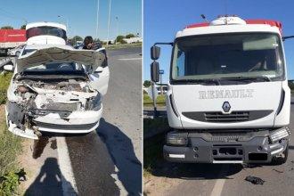Accidente en ruta 12: camión chocó con un auto y la conductora resultó gravemente herida