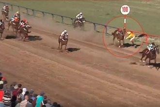 Entrerriana cayó del caballo a pocos metros de la llegada