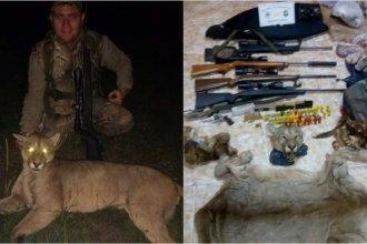 Repudian a un hombre que mató un puma en Entre Ríos y posó con su cadáver: la Policía hizo allanamientos