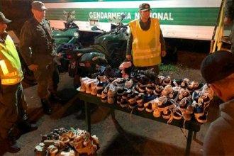 Autovía Artigas: Gendarmería incautó un cargamento de zapatillas por un valor de más de 100 mil pesos