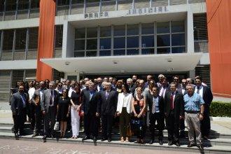 """En la sede del Poder Judicial, abogados plantearon la """"inconstitucionalidad"""" de la baja de honorarios"""