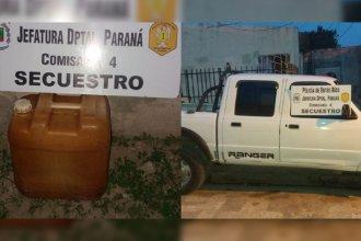 Robó gasoil a colectivos de Paraná durante la madrugada y lo descubrieron porque quedó filmado