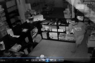 Gualeguaychú: delincuente con amplio historial escaló 5 metros para robar un comercio y quedó filmado