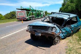 Impactante despiste y choque sobre Ruta 12: un conductor fue hospitalizado