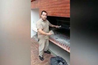 Entrerriano hizo un tutorial sobre limpieza de parrillas y se volvió viral
