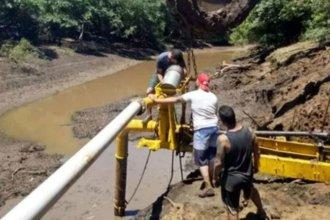 Vacían un afluente del río Uruguay para buscar los restos de un joven desaparecido