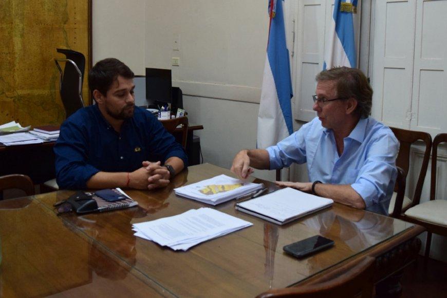 Bahillo junto a Gómez Tutau.