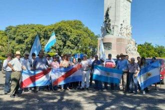 """Productores de Entre Ríos hicieron un """"camionetazo"""" contra la suba de las retenciones"""