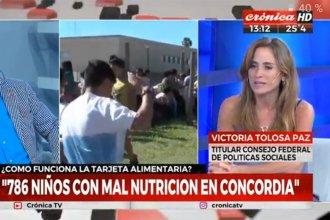Funcionaria nacional le puso cifras a la realidad social de Concordia: 41 asentamientos y 786 niños con malnutrición