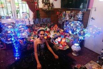 Joven entrerriana festejó sus 15 y pidió a sus invitados que lleven alimentos no perecederos para entregar a comedores