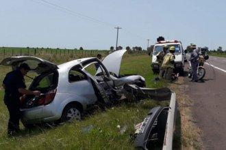 Un conductor de 20 años despistó en su vehículo sobre la autovía Artigas y fue hospitalizado