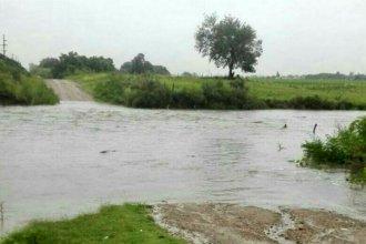 Arroyos desbordados y anegamientos de calles, entre las consecuencias de las intensas lluvias