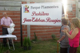 Sin el padre Juan Esteban, inauguraron un lugar que lleva su nombre