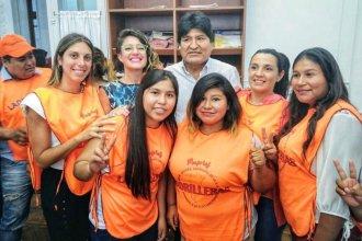 """Entrerriana estuvo con Evo Morales: """"Nos pusimos a disposición para las elecciones"""""""