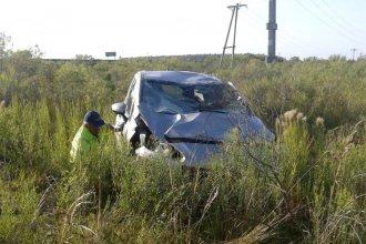 Nuevo vuelvo en la autovía Artigas: un hombre de 75 años debió ser hospitalizado