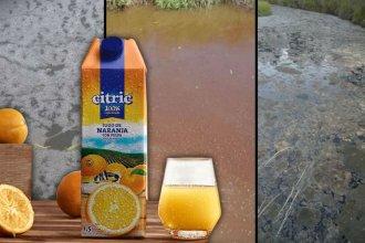 Acusan a fabricante de reconocido jugo por contaminación de un arroyo de Entre Ríos