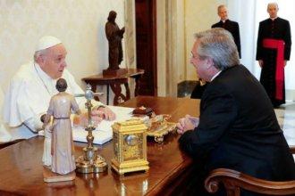 Por 44 minutos, Francisco y Alberto Fernández se reunieron en el Vaticano