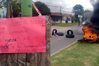 Luego del robo a un taller mecánico, vecinos cortaron el tránsito en reclamo de mayor seguridad