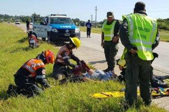 Una caída en moto le provocó lesiones de consideración