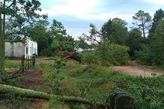 Un fuerte temporal provocó destrozos en la zona rural de Diamante y dejó varios heridos