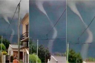 Filmaron la formación de un tornado en una ciudad entrerriana