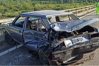 Sobre autovía Artigas, un concordiense fue embestido desde atrás por una combi y fue hospitalizado
