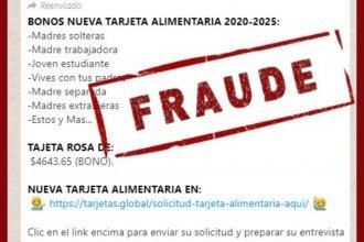 En otro intento de fraude, inscribían online a personas para ser beneficiaros de la Tarjeta Alimentar