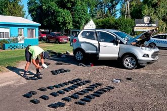 En un operativo sobre ruta 12, hallaron 46 celulares ocultos en el interior de una camioneta