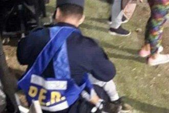 Policía entrerriano hizo dormir a un nene que estaba perdido y se volvió viral en las redes